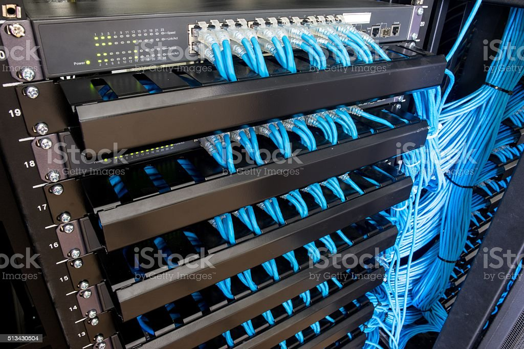 Network switch stock photo