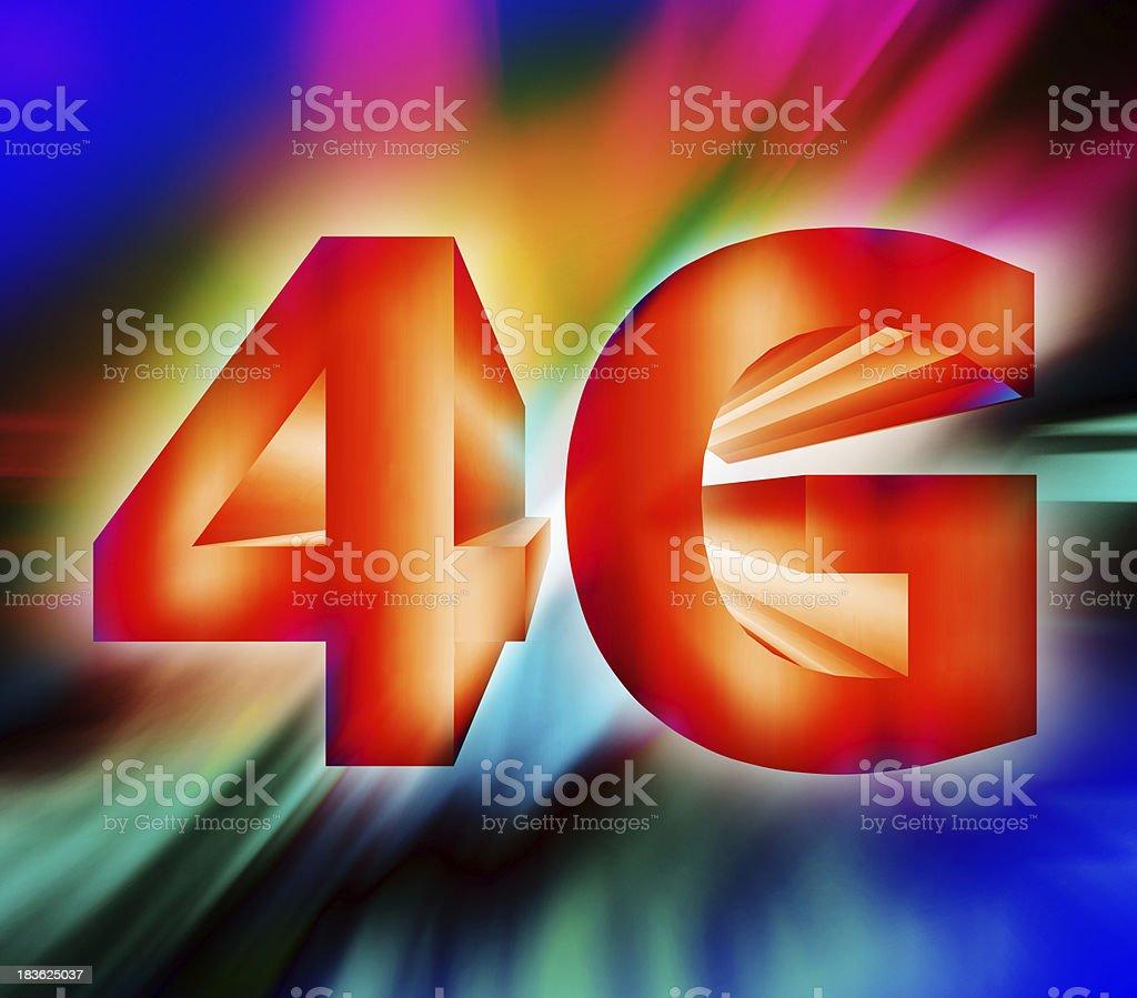 4G network symbol royalty-free stock photo