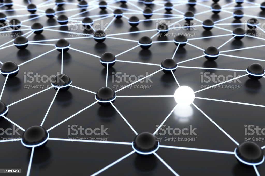 Network with pacemaker royalty-free stock photo