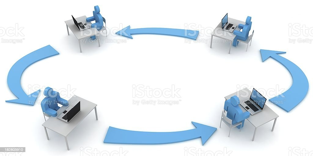 Network Workflow royalty-free stock photo