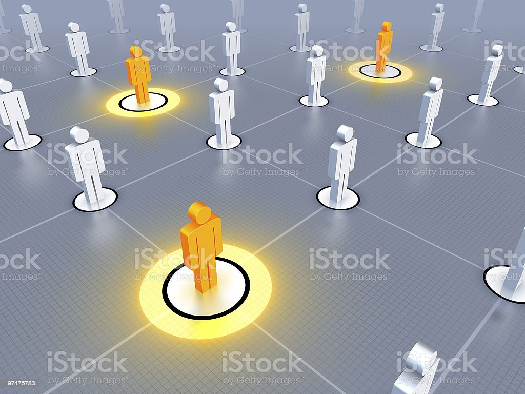 Networked Leaders royalty-free stock photo
