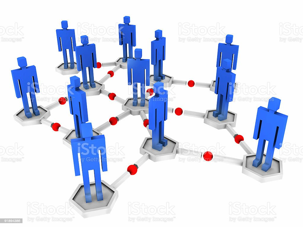 Networking Grid (Isolated) royalty-free stock photo