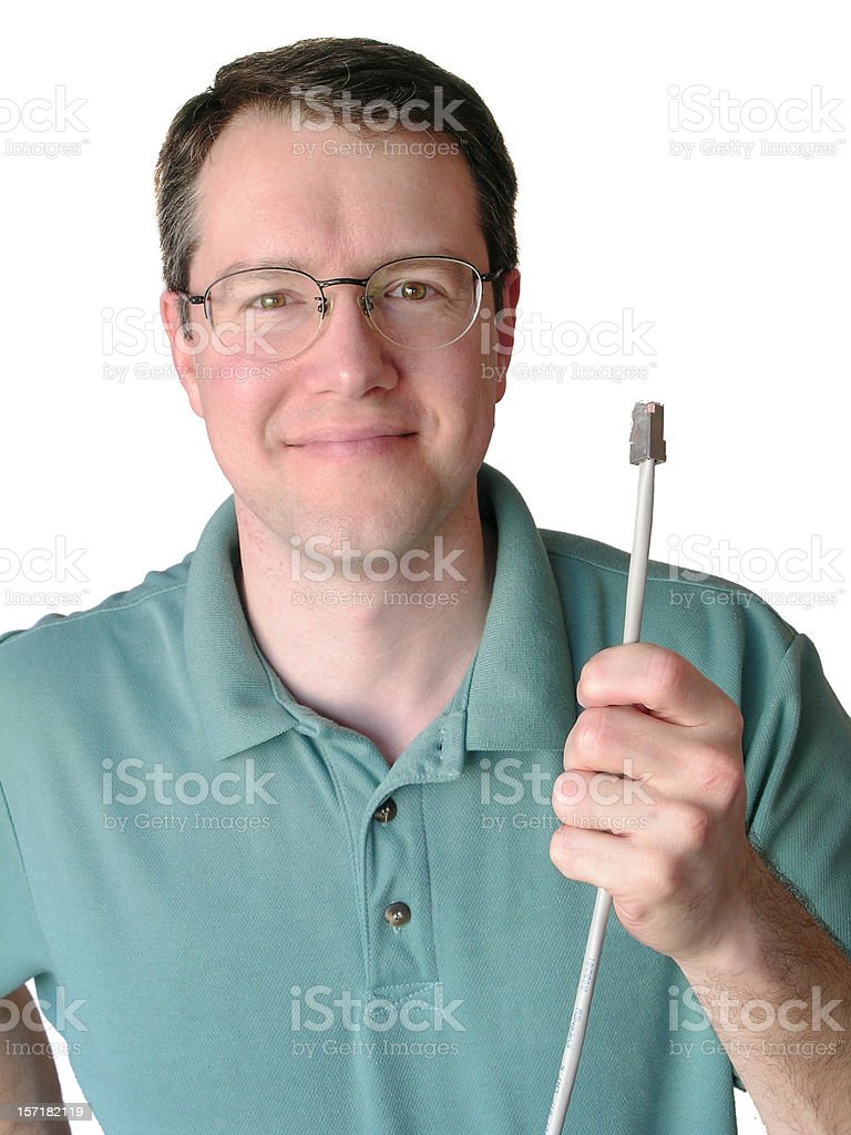 Networking guy royalty-free stock photo