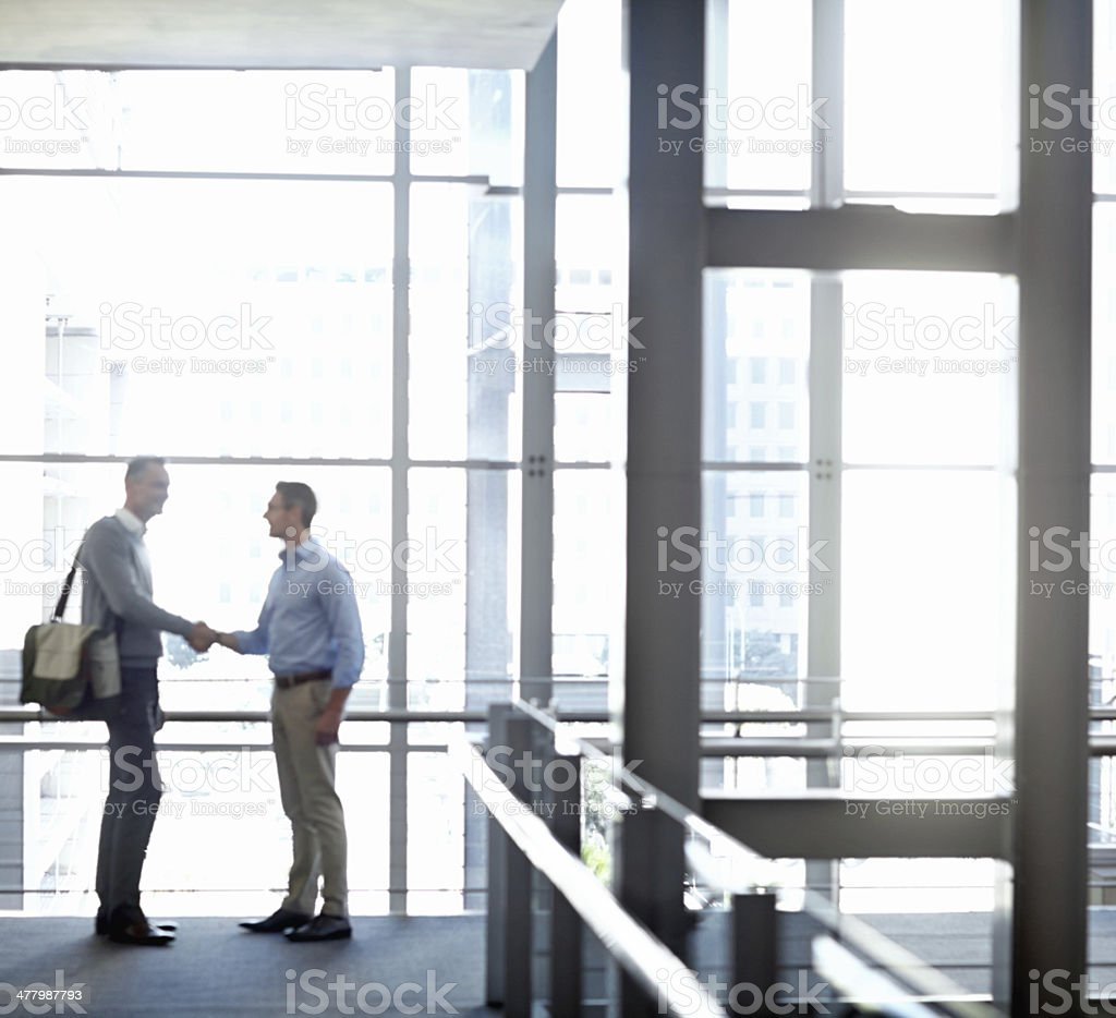 Networking while on the go stock photo
