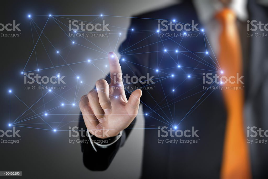 Networks Concept royalty-free stock photo