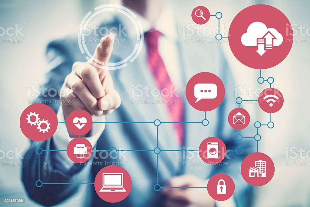 Networks of everything stock photo