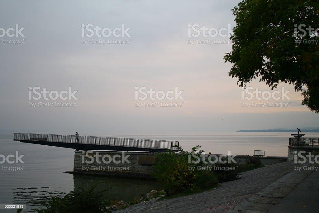 Neuchatel lake stock photo
