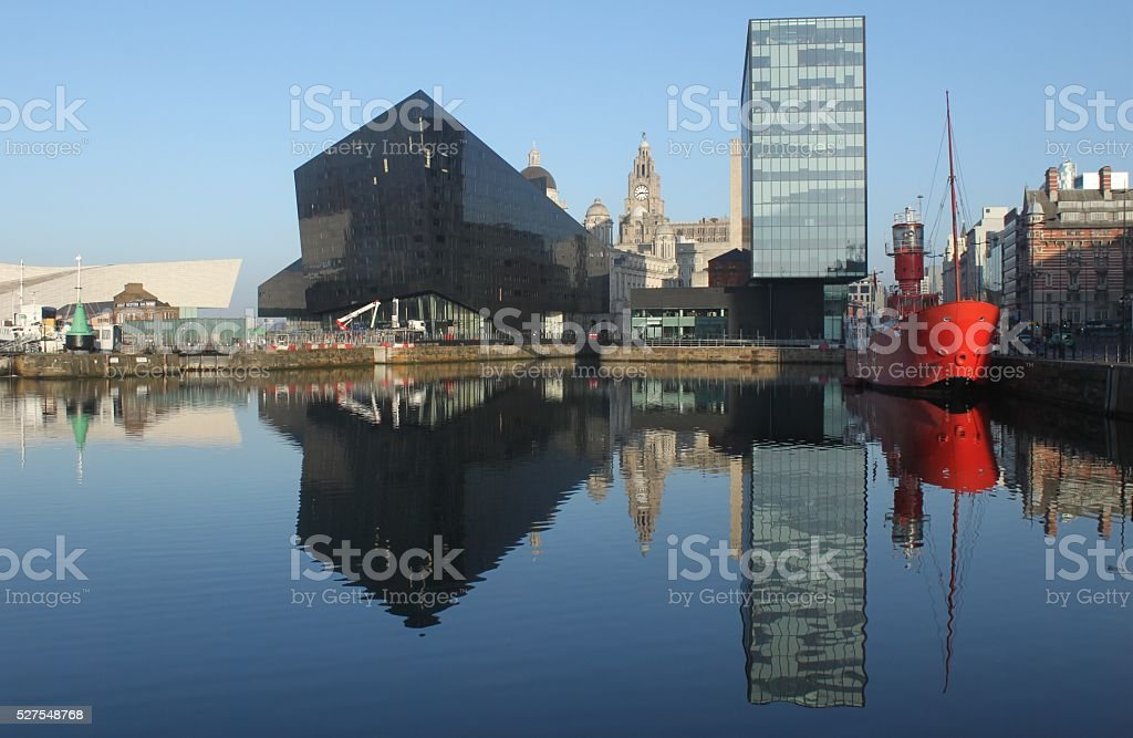 Neue Liverpooler Uferfront stock photo