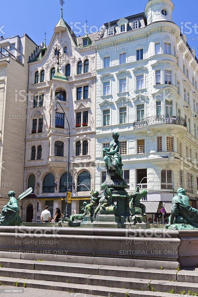Neuer Markt, Vienna. royalty-free stock photo