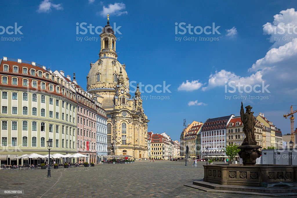 Neumarkt and Frauenkirche in Dresden, Germany stock photo