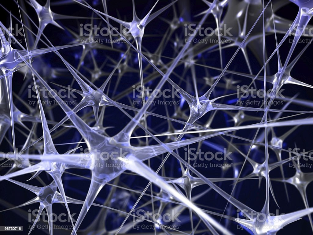 neural network abstract background stock photo