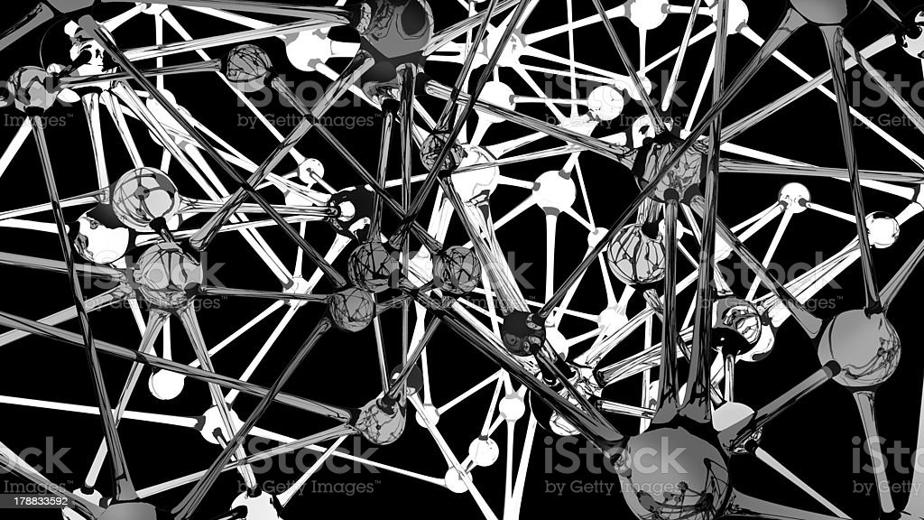 Neural network abstract on black royalty-free stock photo