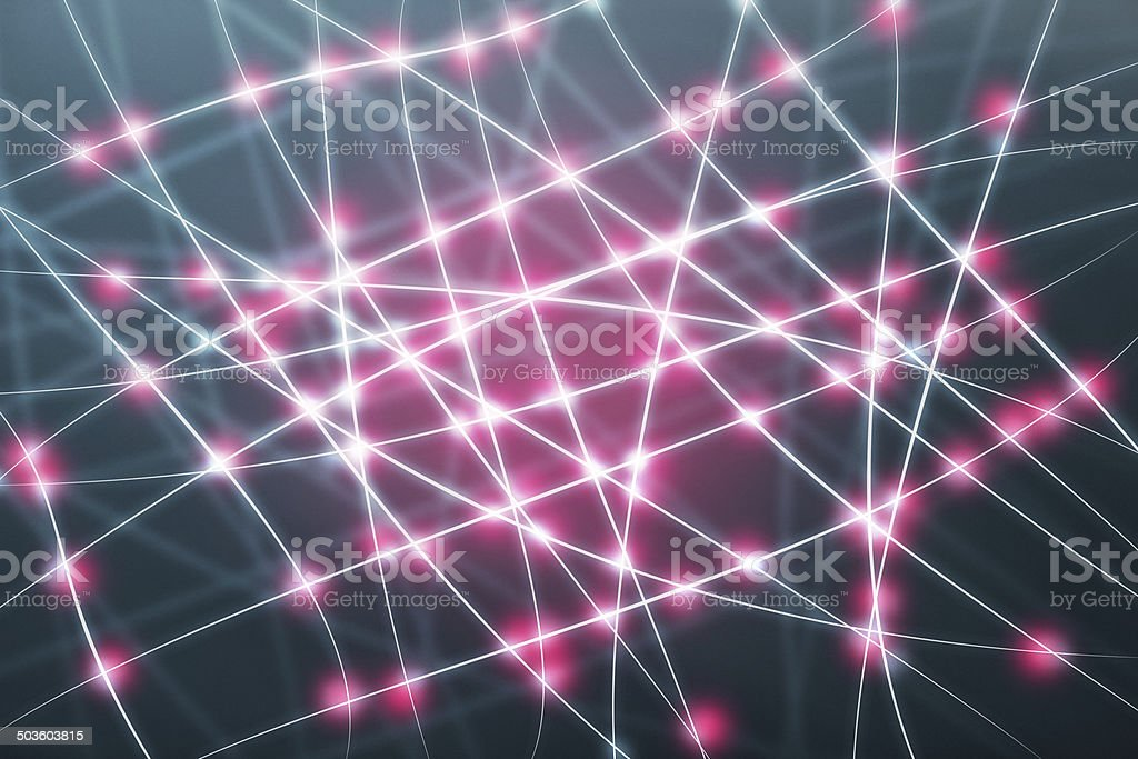 Neural network with connections stock photo