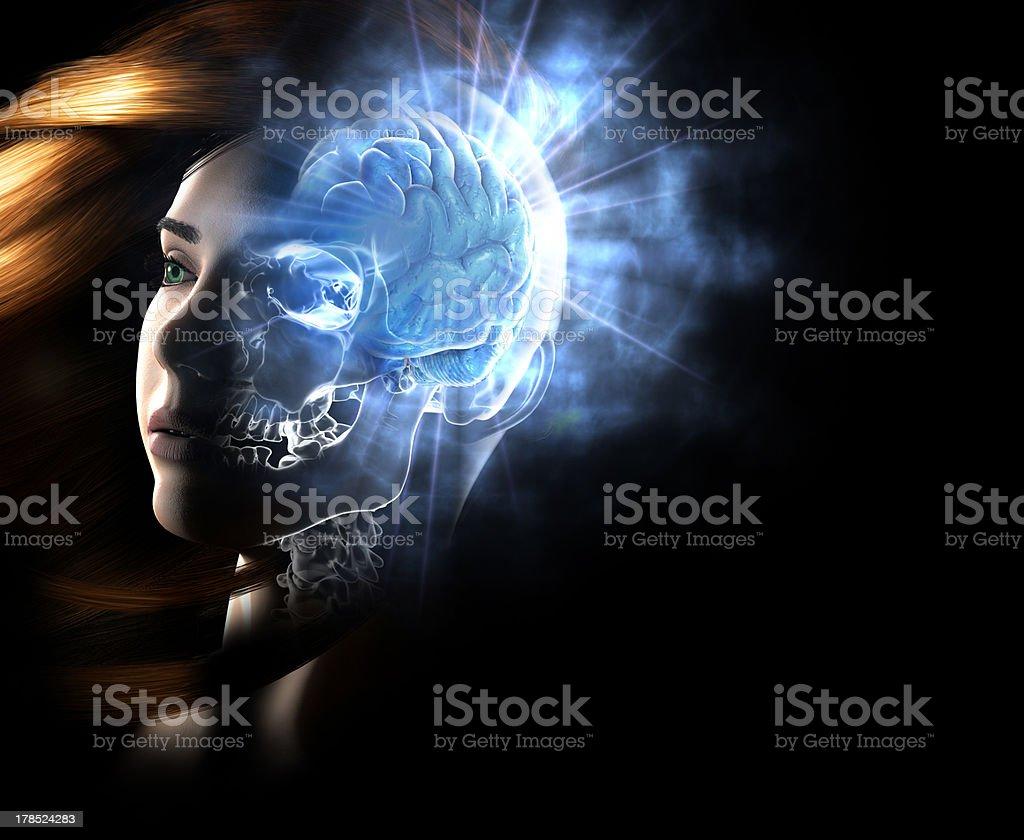 Neuro Woman royalty-free stock photo