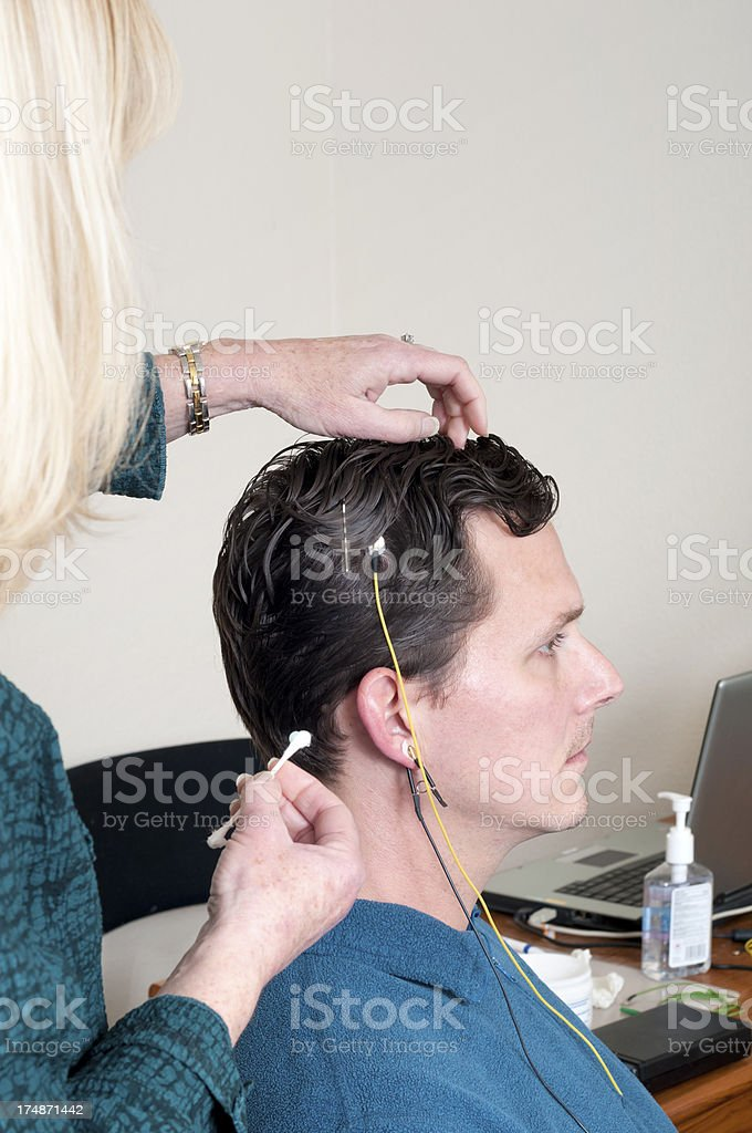 Neurofeedback Doctor and Patient stock photo