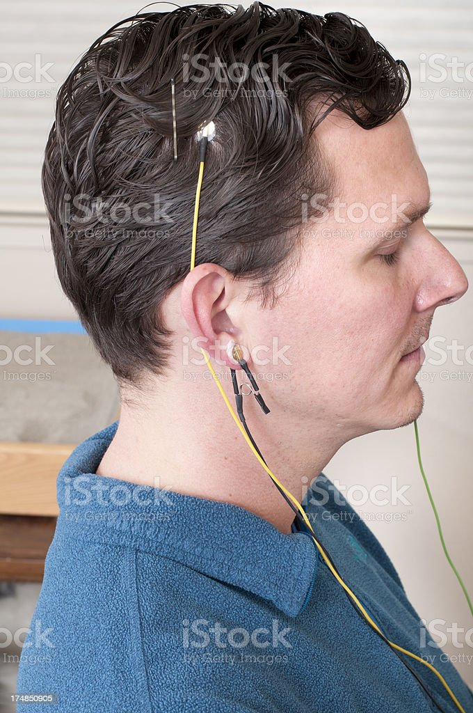 Neurofeedback Patient royalty-free stock photo