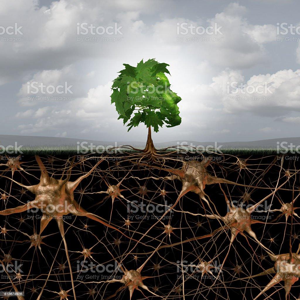 Neuron Brain Connection stock photo
