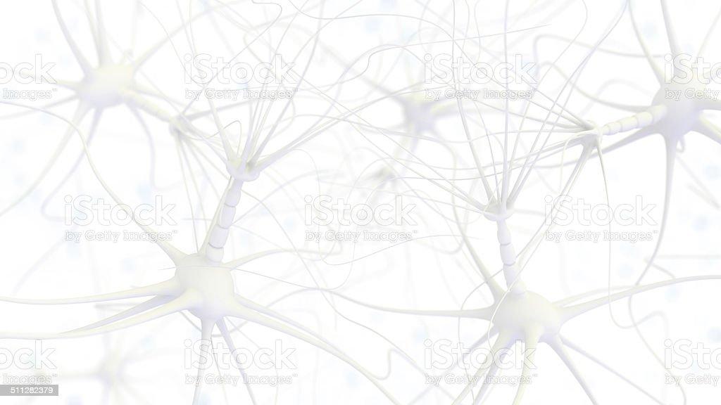 Neuron cell network stock photo