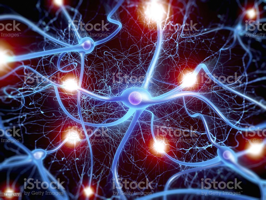 Neuron cells stock photo