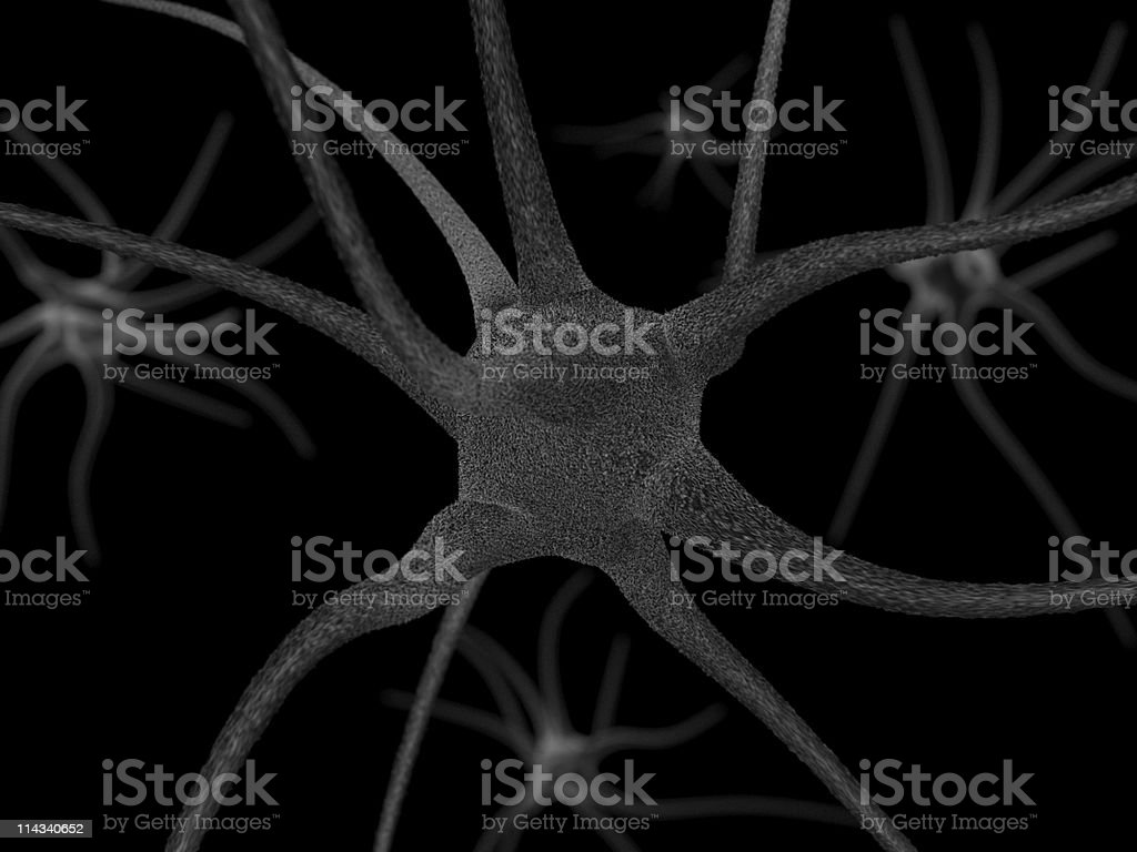 Neuron royalty-free stock photo