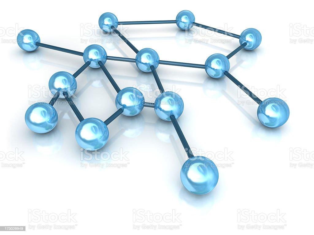 Neuronal Network royalty-free stock photo