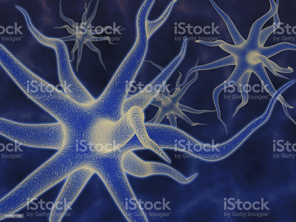 Neurons - 3d rendering royalty-free stock photo