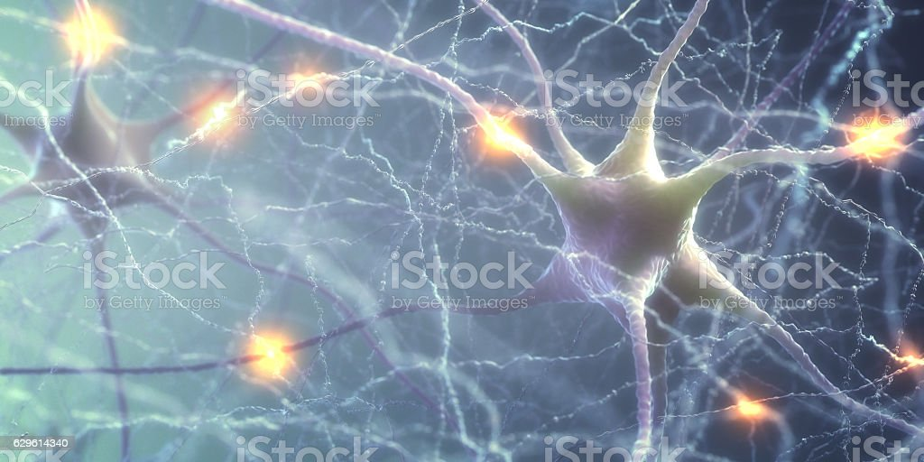 Neurons Electric Pulse stock photo