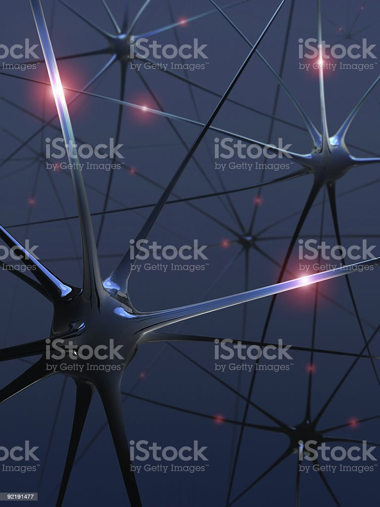 Neurons (Power of the mind) royalty-free stock photo