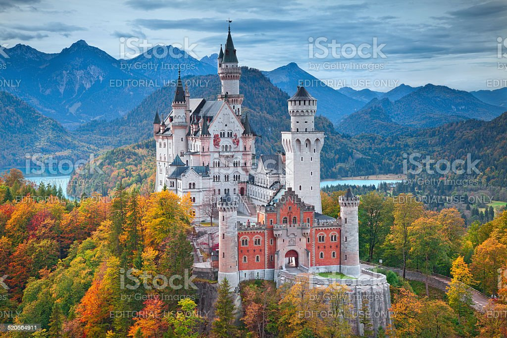Neuschwanstein Castle, Germany. stock photo