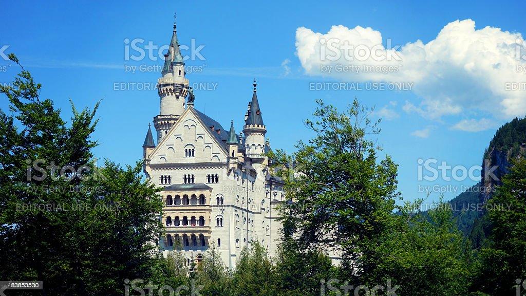 Neuschwanstein Castle, Hohenschwangau in Germany stock photo