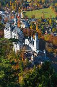 Neuschwanstein castle in autumn/fall