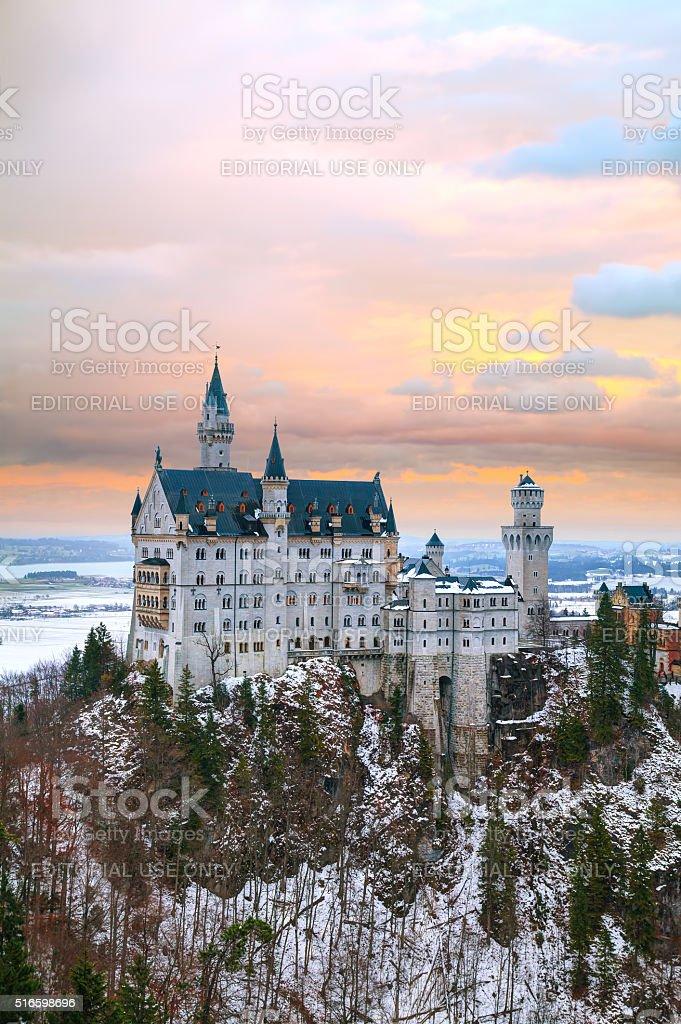 Neuschwanstein castle in Bavaria, Germany stock photo