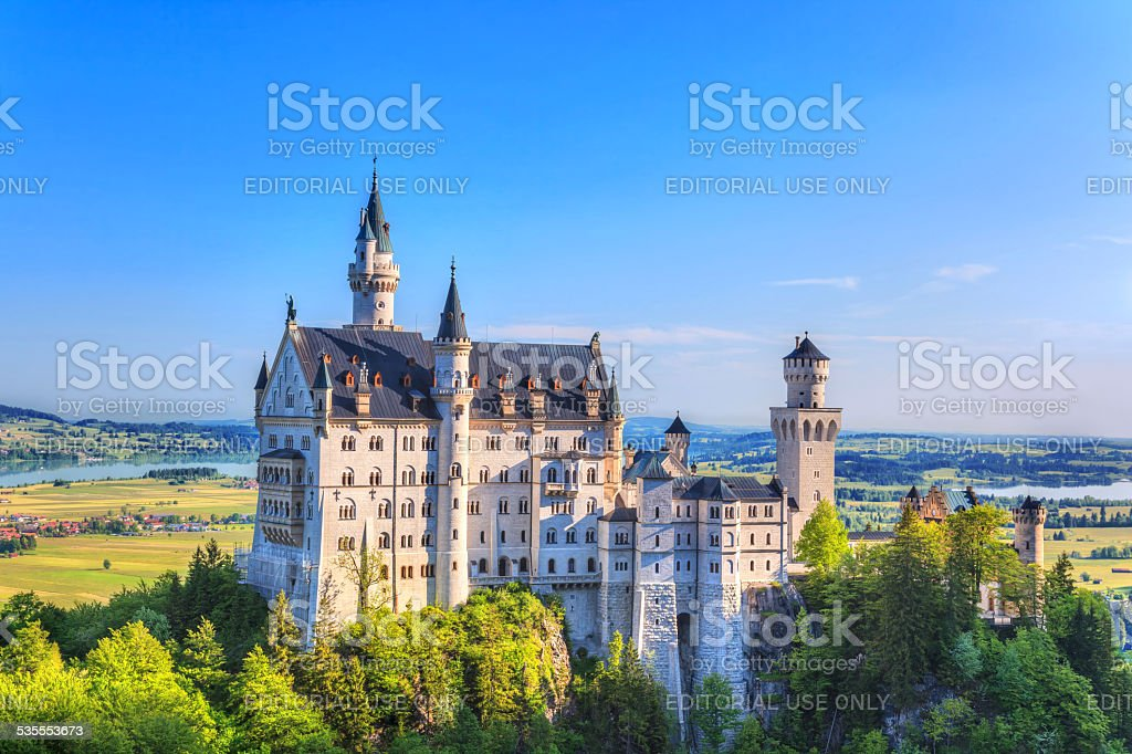 Neuschwanstein Castle in summer season stock photo
