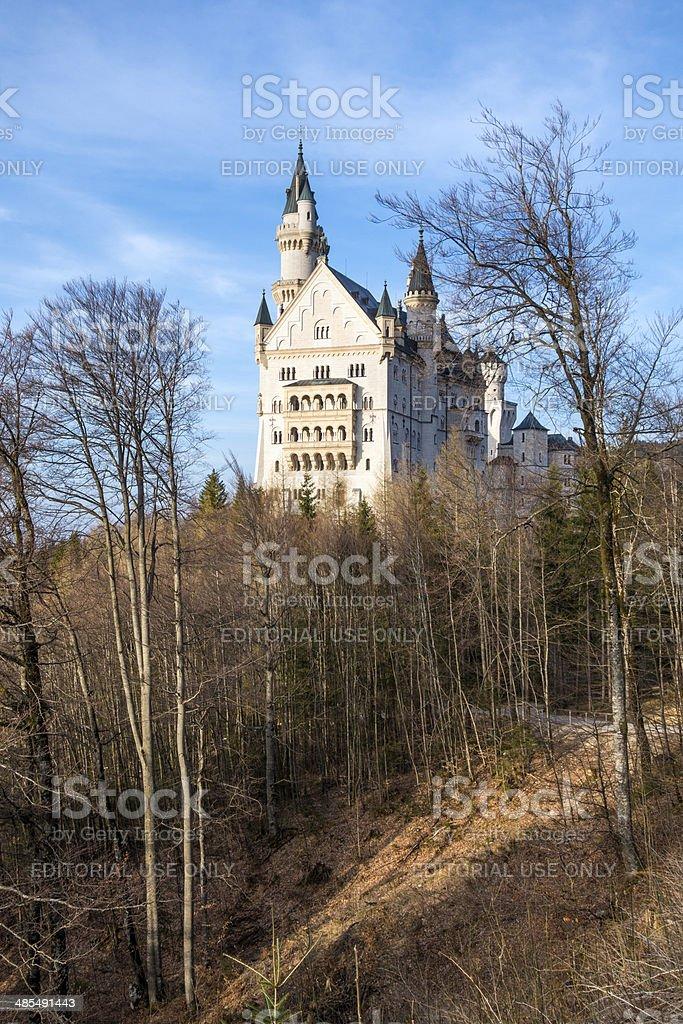 Neuschwanstein Castle,  near F?ssen in Bavaria, Germany royalty-free stock photo