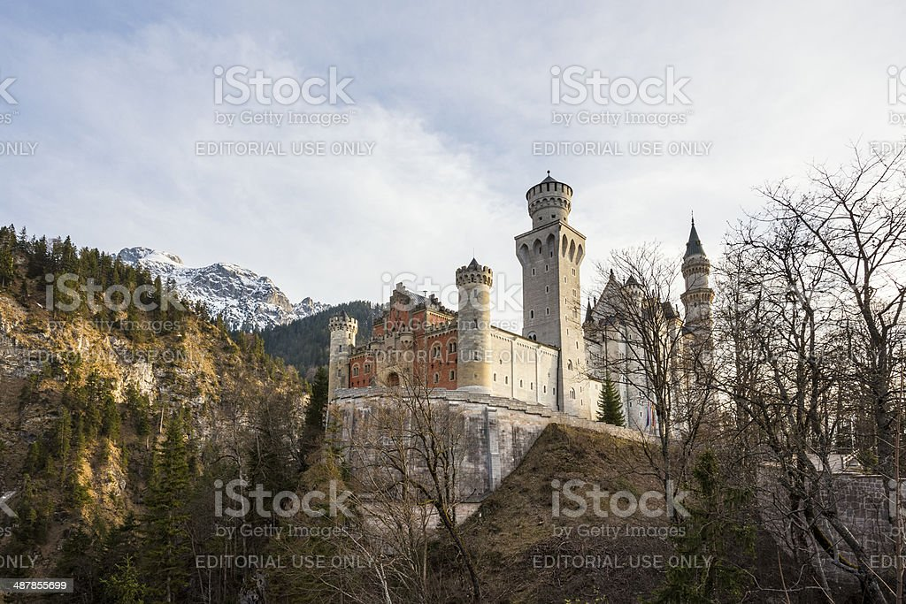 Neuschwanstein Castle,  near Füssen in Bavaria, Germany royalty-free stock photo