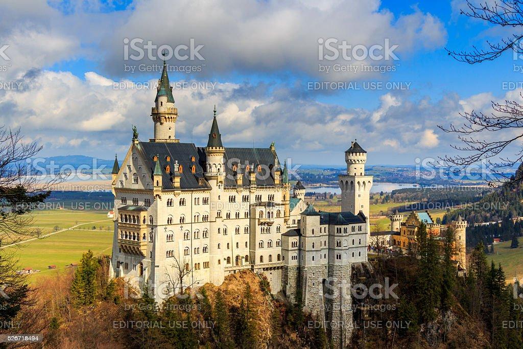 Neuschwanstein Castle near Fussen, southwest Bavaria, Germany stock photo