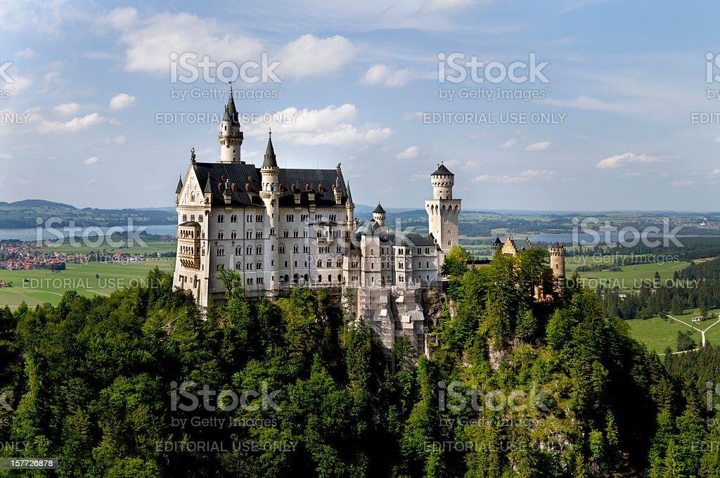 Neuschwanstein Castle Panorama stock photo