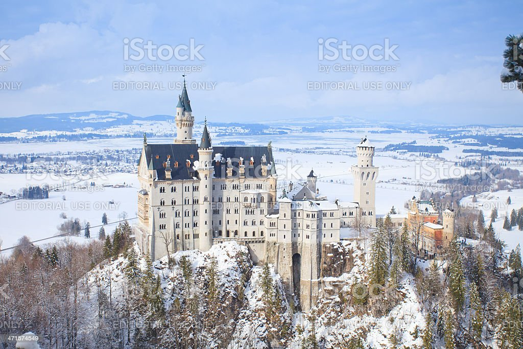 Neuschwanstein castle stock photo