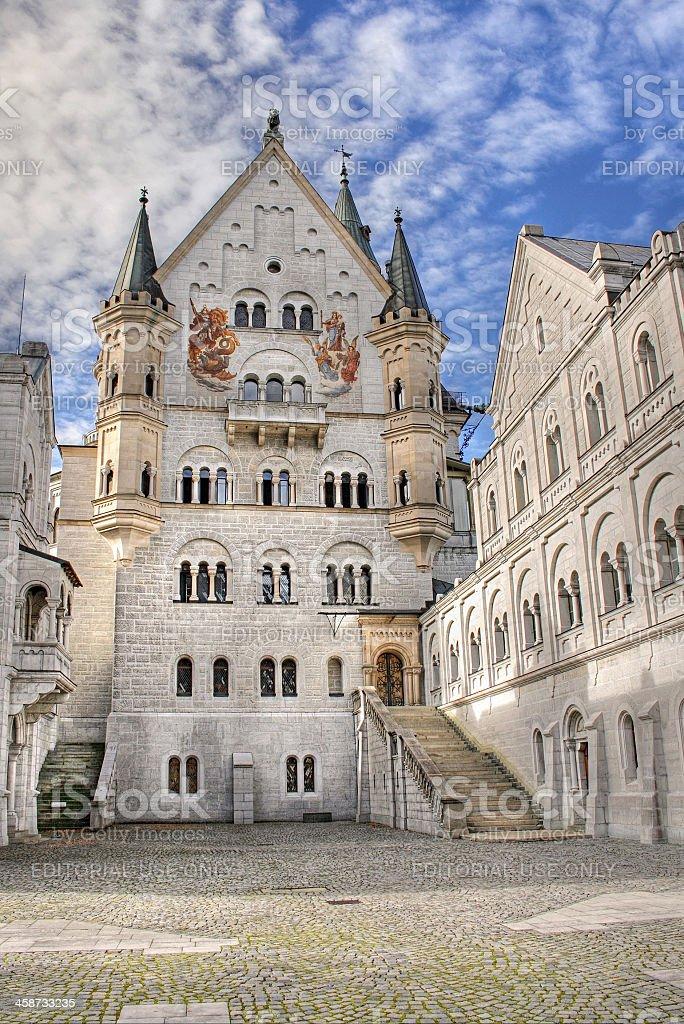 Neuschwanstein courtyard stock photo