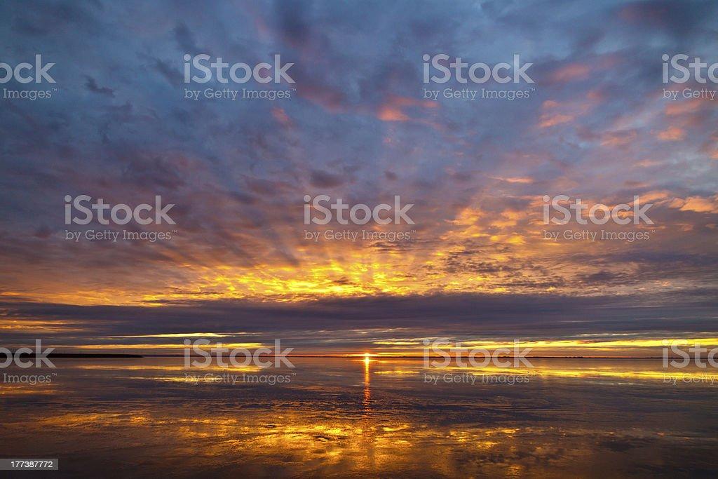 Neusiedlersee Sunrise stock photo
