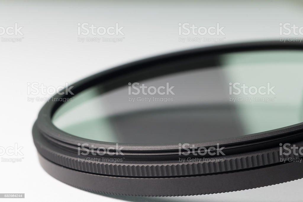 neutral density filter for dslr camera stock photo