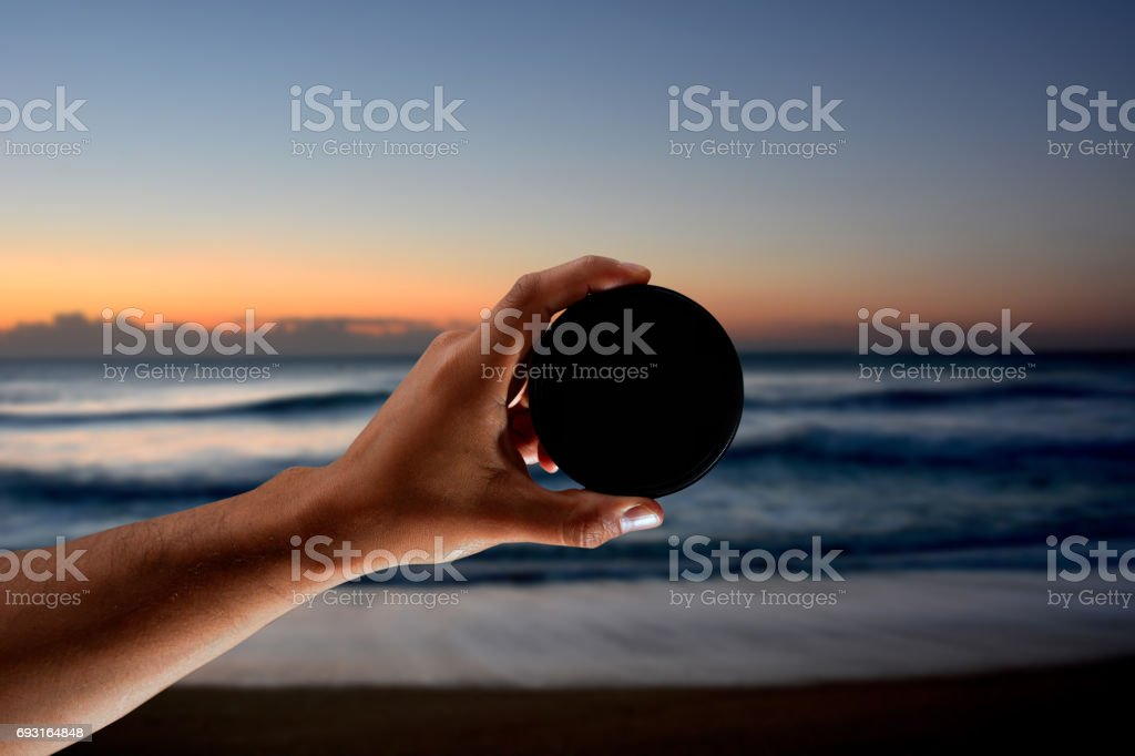 Neutral density filter for use in  photography stock photo