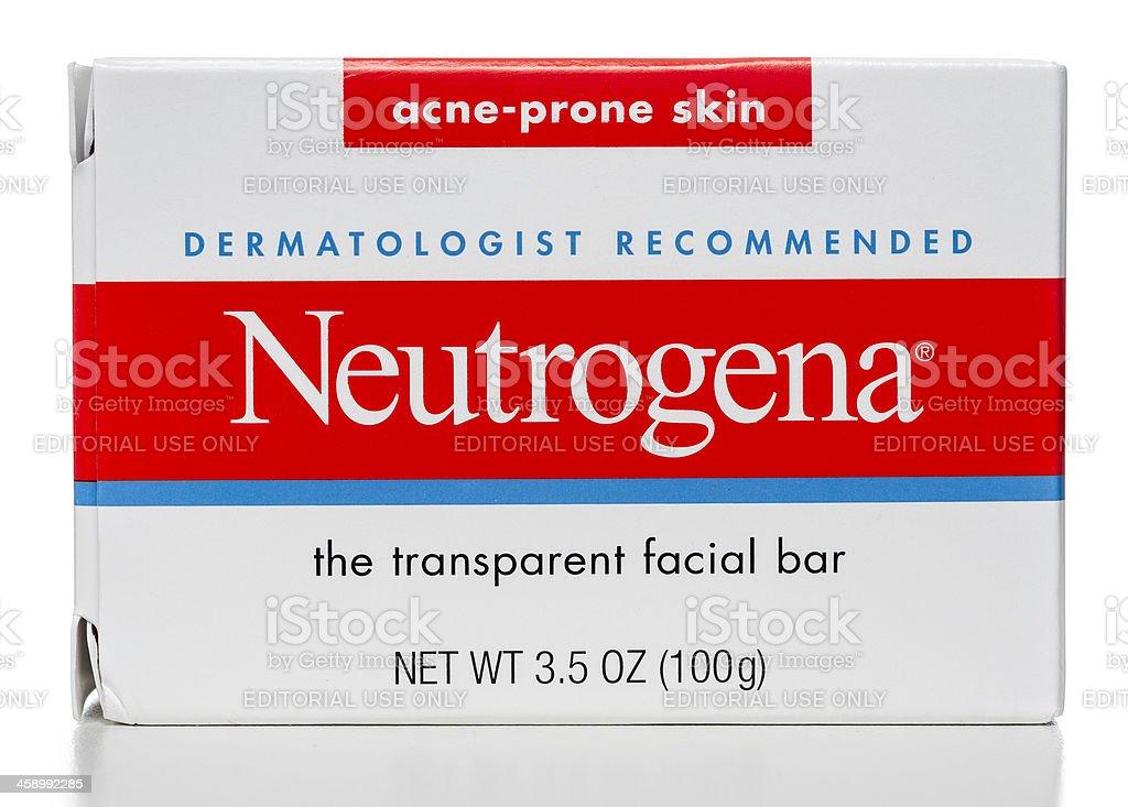 Neutrogena acne-prone skin facial bar box stock photo