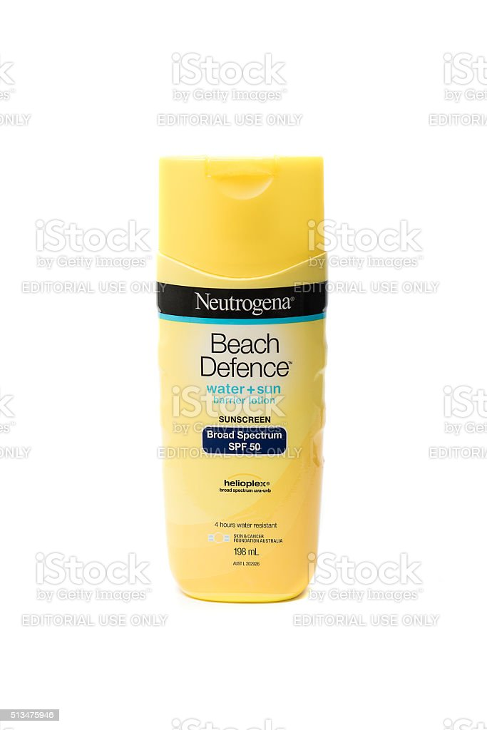 Neutrogena Beach Defence Sunscreen Lotion 198ml stock photo
