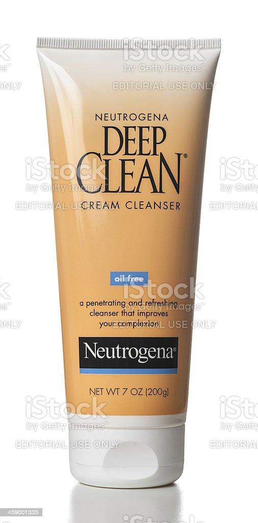 Neutrogena Deep Clean Oil Free Cream Cleanser stock photo