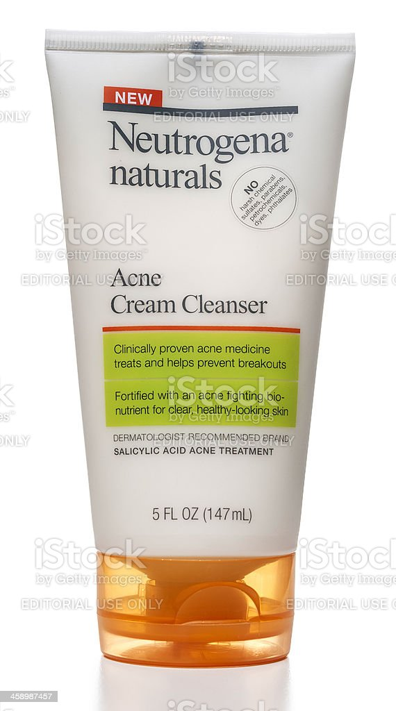 Neutrogena Naturals Acne Cream Cleanser stock photo