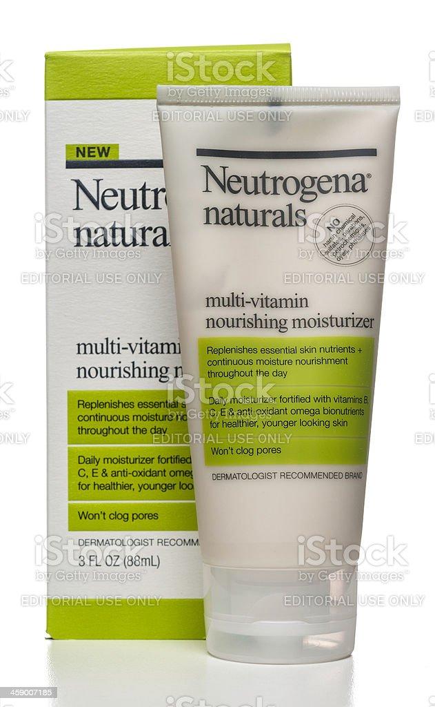 Neutrogena naturals multi-vitamin nourishing moisturizer stock photo