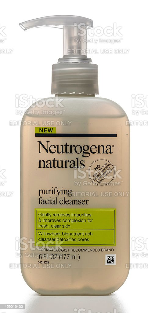 Neutrogena naturals purifying facial cleanser stock photo