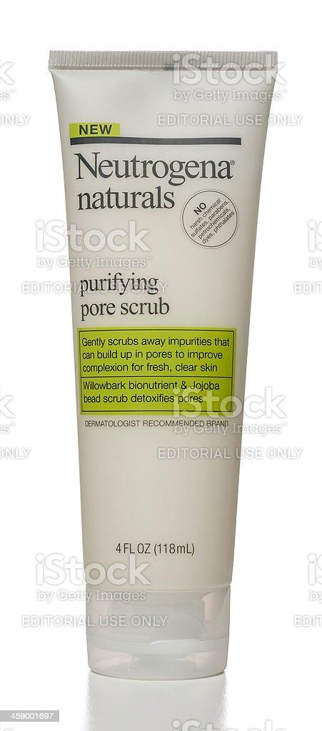 Neutrogena Naturals Purifying Pore Scrub stock photo