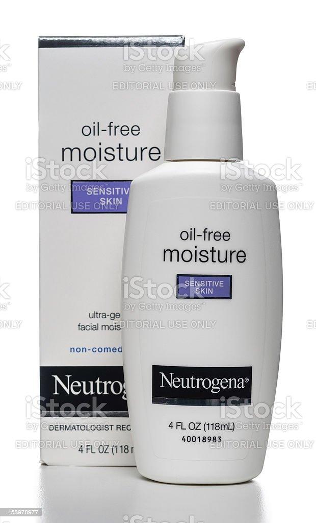 Neutrogena Oil-Free Moisture Sensitive Skin stock photo